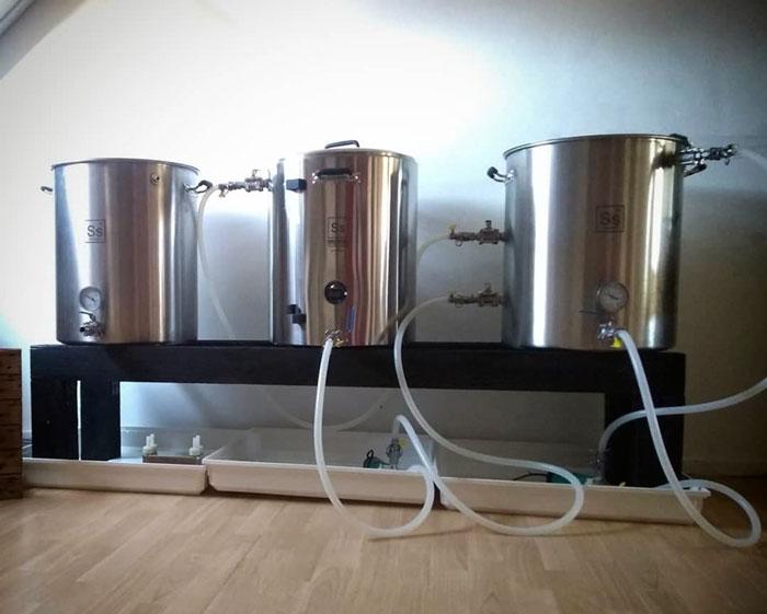 Brouwinstallatie Herms SS Brew